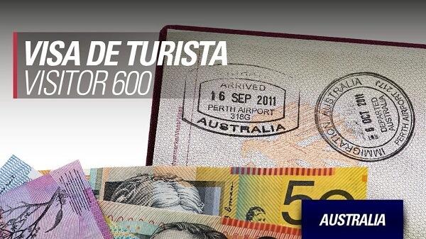 Visa de turista 600 australia