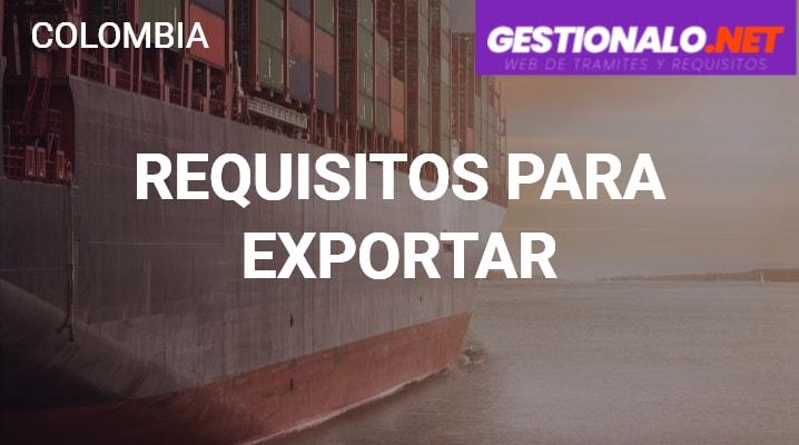 Requisitos para Exportar