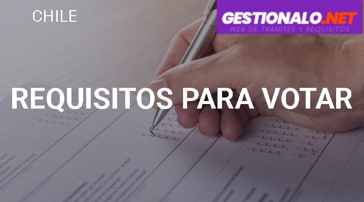Requisitos para Votar