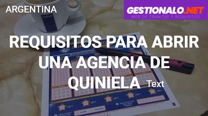 Requisitos para abrir una Agencia de Quiniela