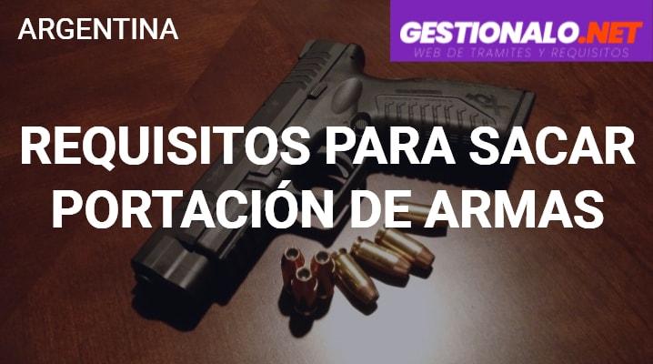 Requisitos para sacar Portación de Armas