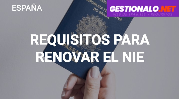 Requisitos para Renovar el NIE