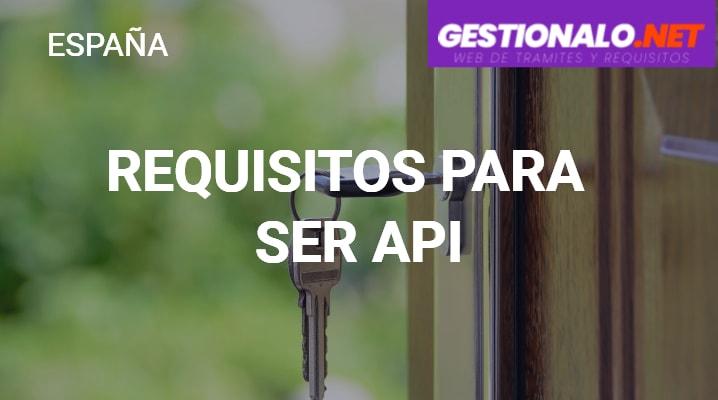 Requisitos para Ser API