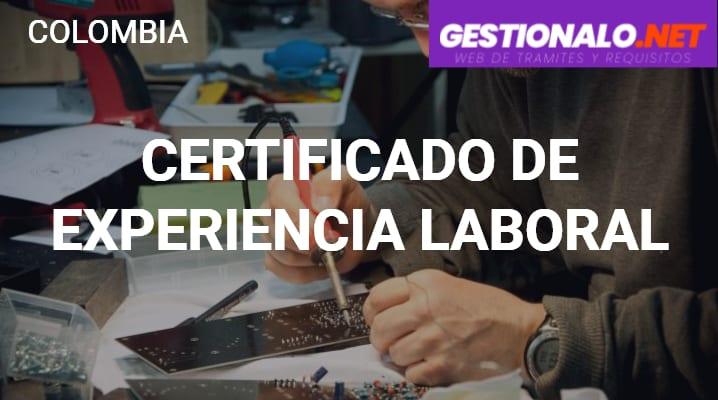 Certificado de Experiencia Laboral