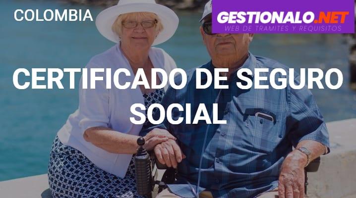 Certificado de Seguro Social