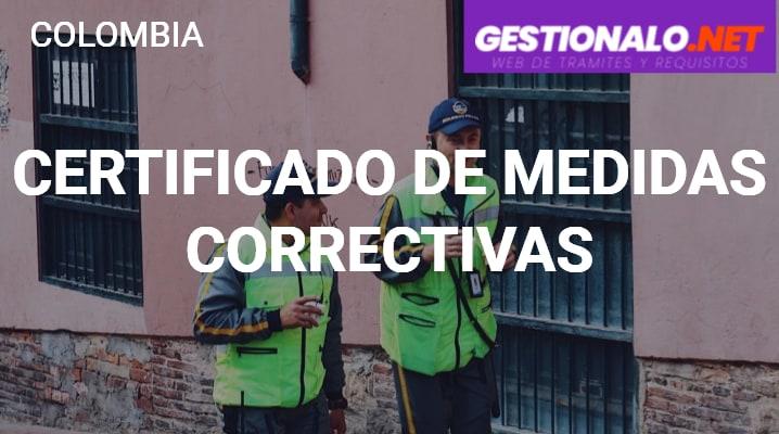 Certificado de Medidas Correctivas