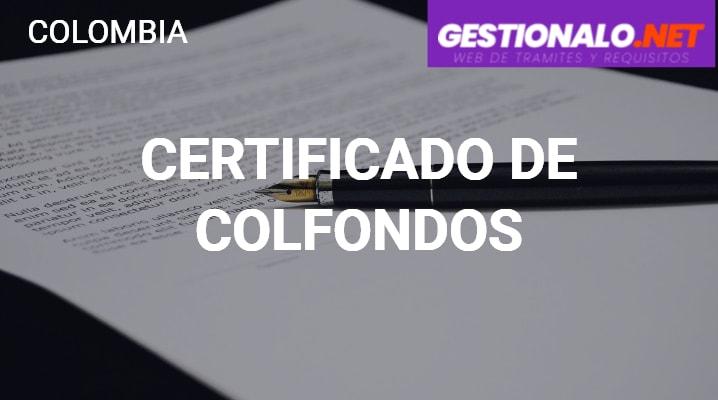 Certificado de Colfondos