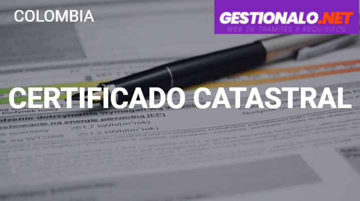 Certificado Catastral