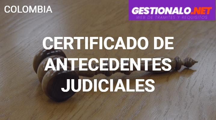 Certificado de Antecedentes Judiciales