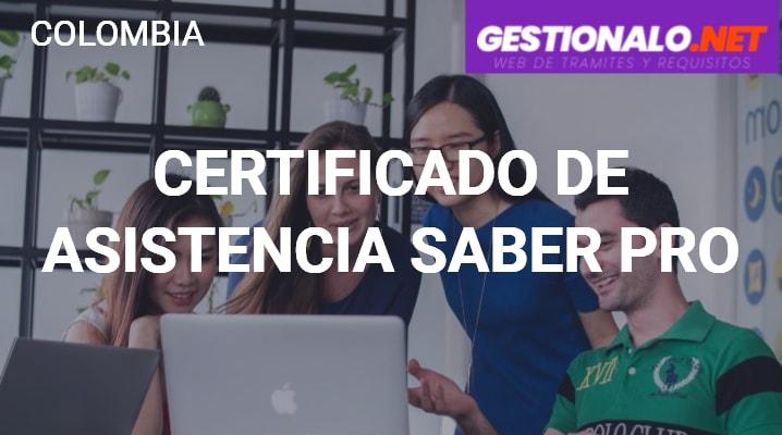 Certificado de Asistencia Saber Pro