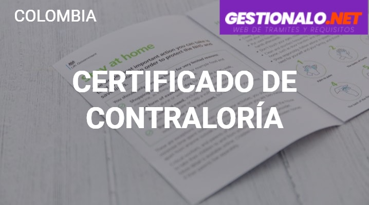 Certificado de Contraloría