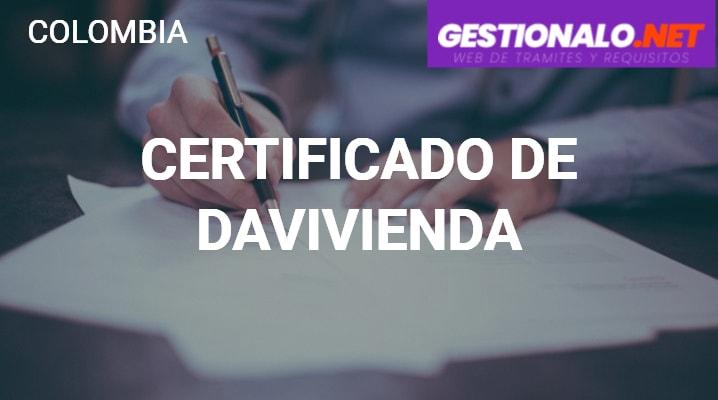 Certificado de Davivienda