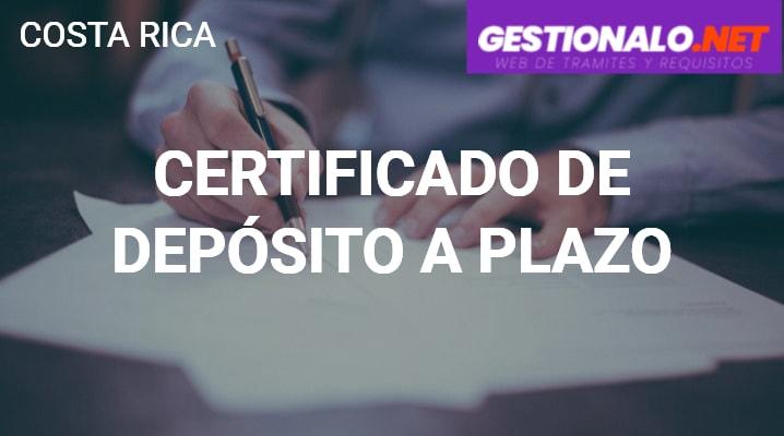 Certificado de Depósito a Plazo