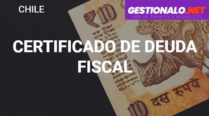 Certificado de Deuda Fiscal