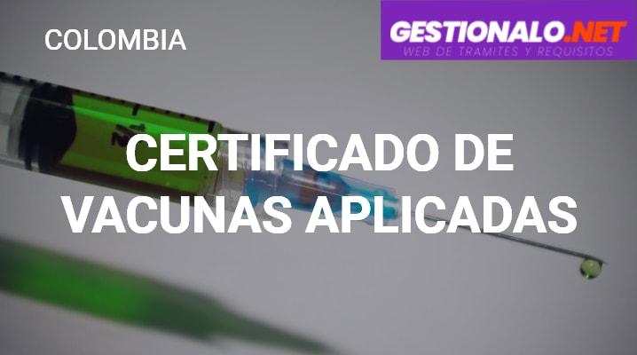 Certificado de Vacunas Aplicadas