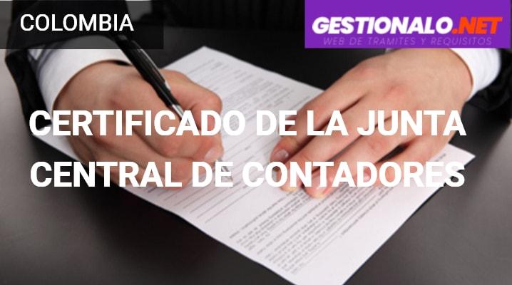 Certificado de la Junta Central de Contadores