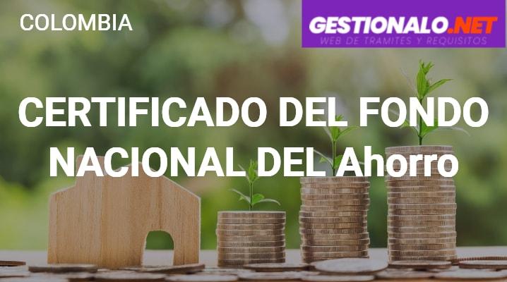 Certificado del Fondo Nacional del Ahorro
