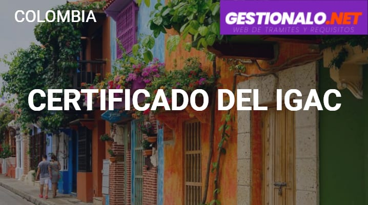 Certificado del IGAC