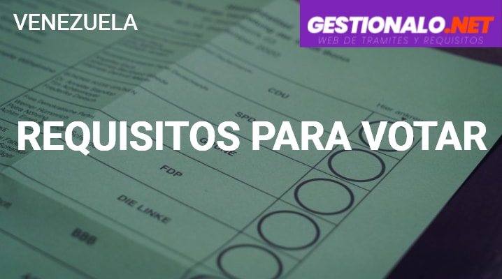 Requisitos para Votar