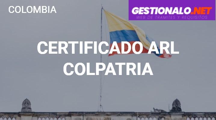 Certificado de ARL Colpatria