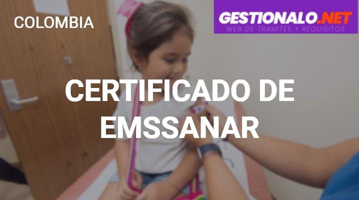 Certificado de Emssanar