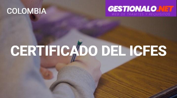 Certificado del Icfes