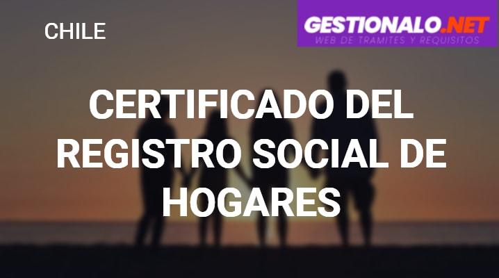 Certificado del Registro Social de Hogares