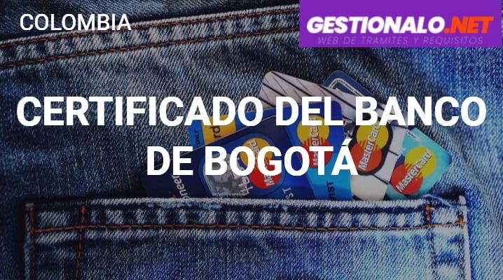 Certificado del Banco de Bogotá