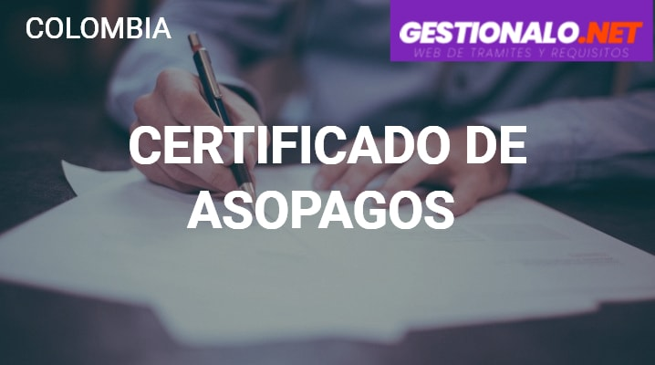 Certificado de Asopagos