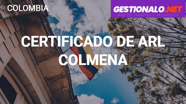 Certificado de ARL Colmena