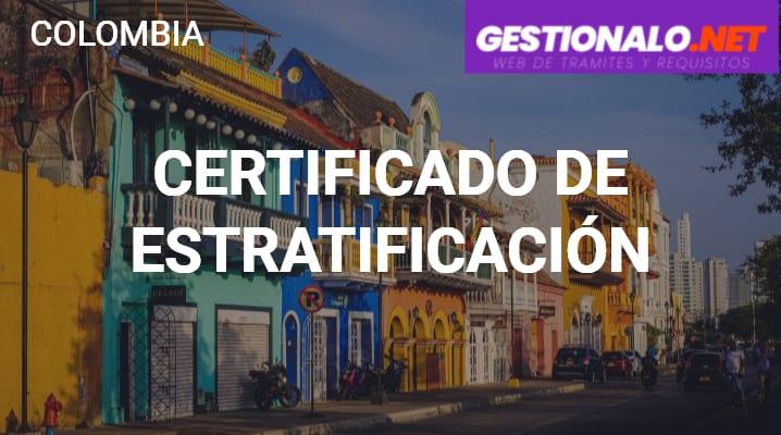 Certificado de Estratificación