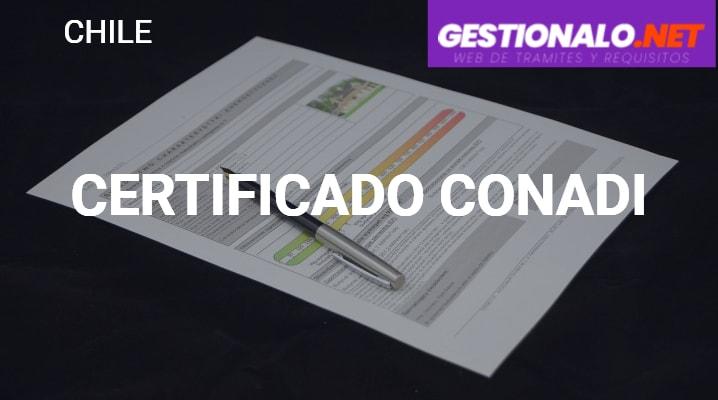 Certificado CONADI