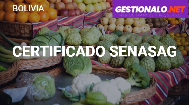 Certificado SENASAG