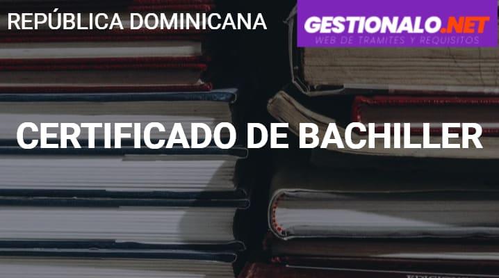 Certificado de Bachiller