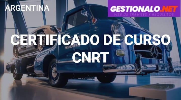 Certificado de Curso CNRT