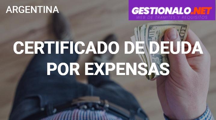 Certificado de Deuda por Expensas