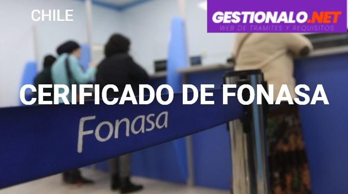 Certificado de Fonasa