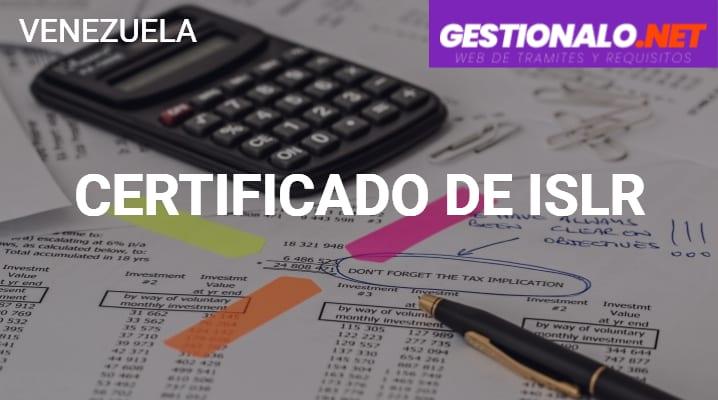 Certificado de ISLR