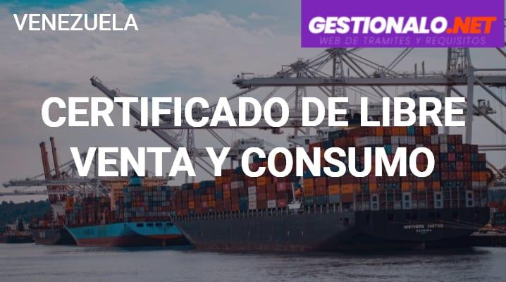 Certificado de Libre Venta y Consumo
