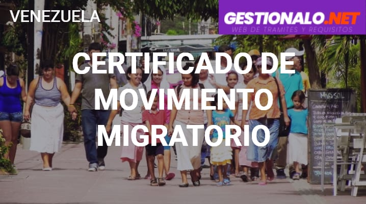 Certificado de Movimiento Migratorio