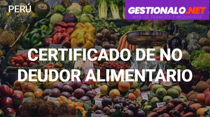 Certificado de No Deudor Alimentario