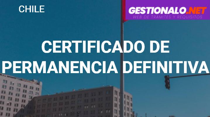 Certificado de Permanencia Definitiva