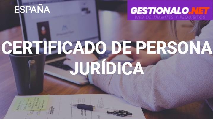 Certificado de Persona Jurídica
