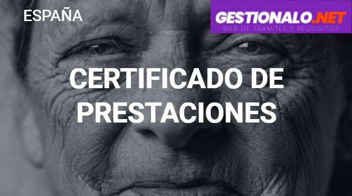 Certificado de Prestaciones
