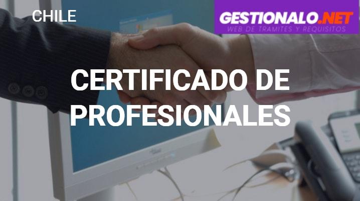 Certificado de Profesionales
