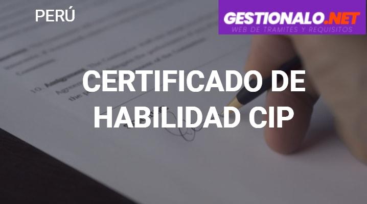 Certificado de Habilidad del CIP