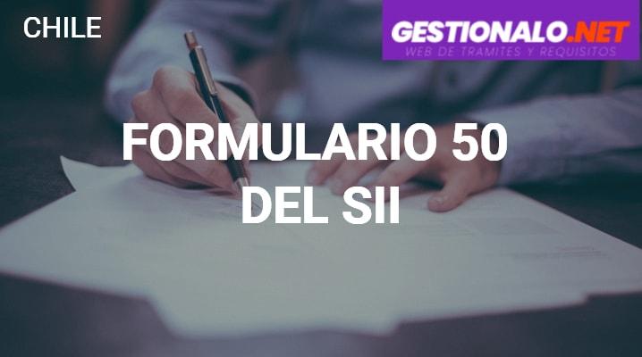 Formulario 50 del SII