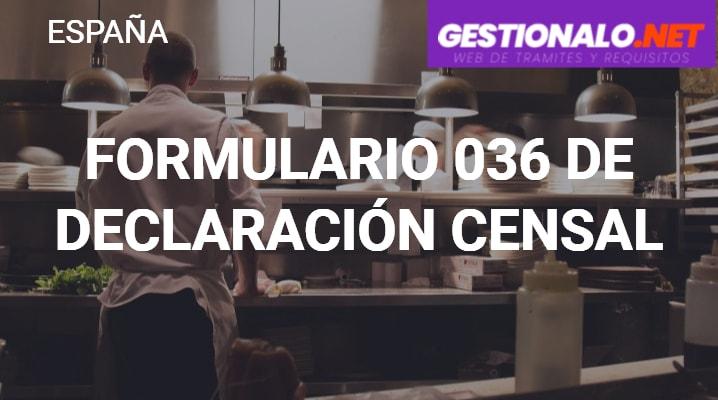 Formulario 036 de Declaración Censal