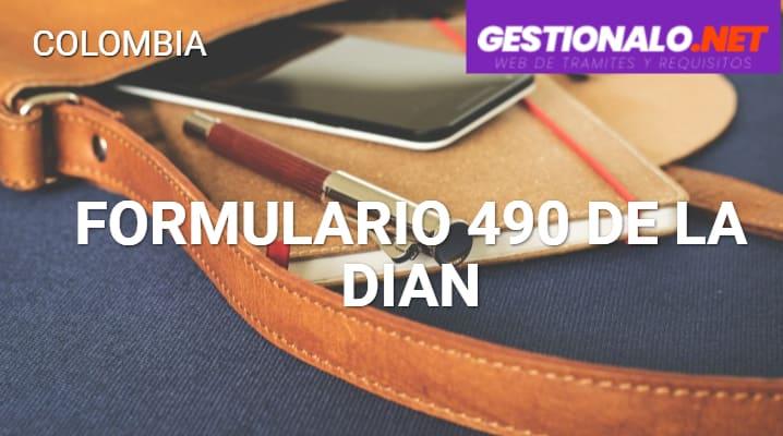 Formulario 490 de la DIAN