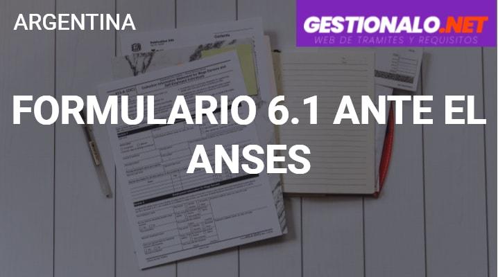 Formulario 6.1 ante el ANSES